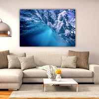 """Beneath the waves"" 40x60 on HD metal."