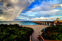 Double rainbow at the Juno Pier